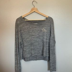 Grey 'Gilly Hicks' Long-Sleeved Shirt